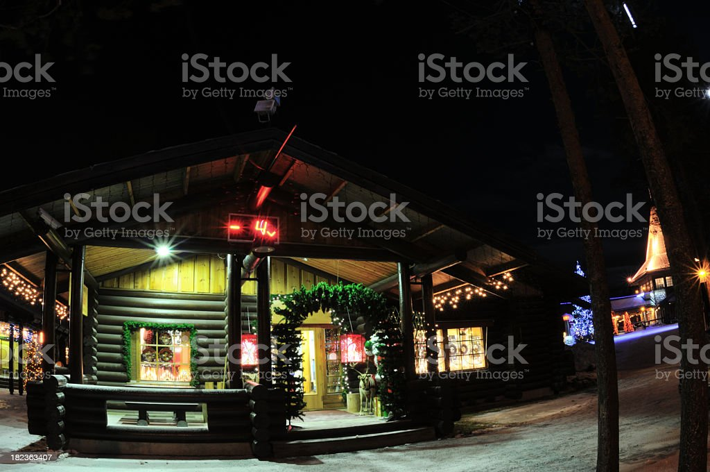Christmas decoration on the house royalty-free stock photo