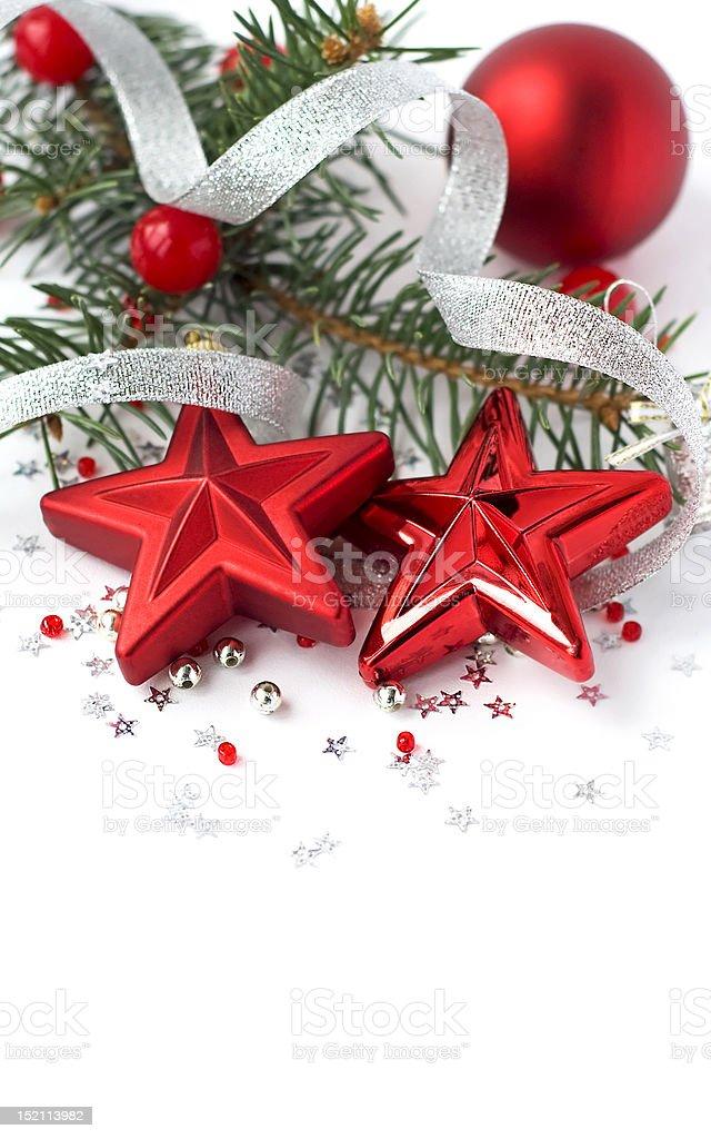 Christmas decoration on the white royalty-free stock photo