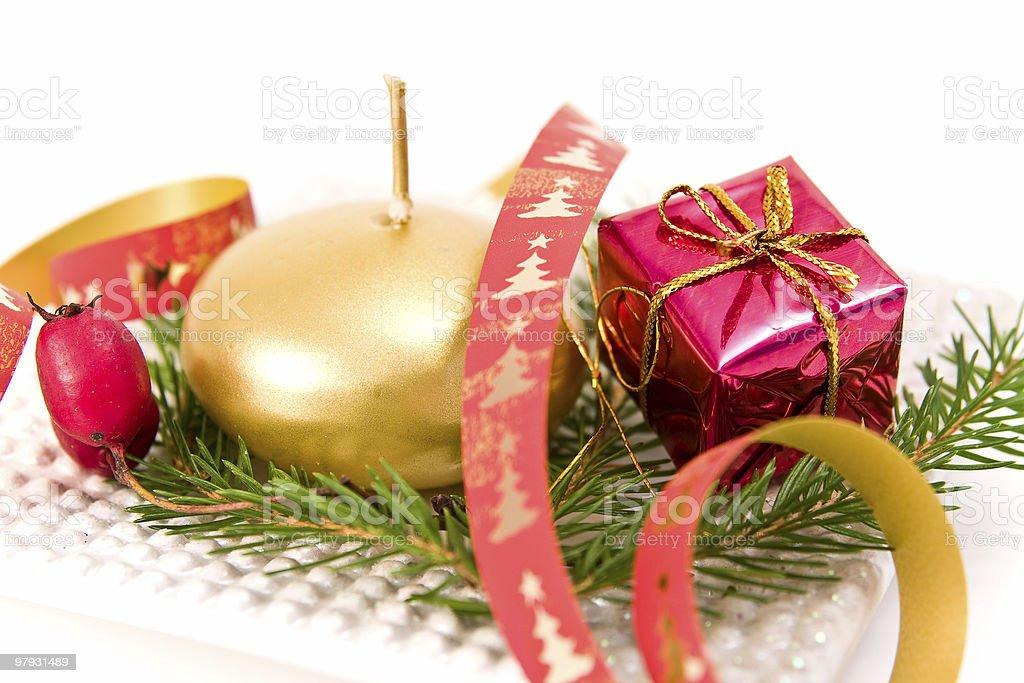 christmas decoration on white background royalty-free stock photo