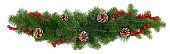istock Christmas decoration on white 1273852213