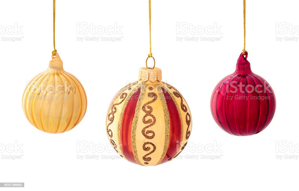 Christmas decoration on white. stock photo