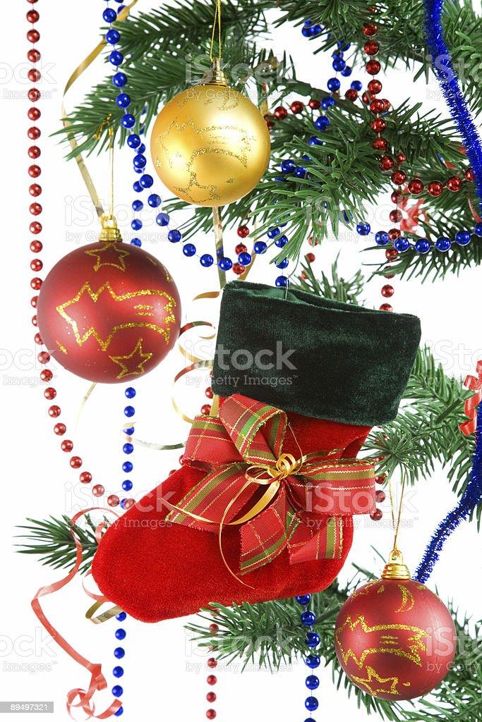 Christmas decoration on white. royaltyfri bildbanksbilder
