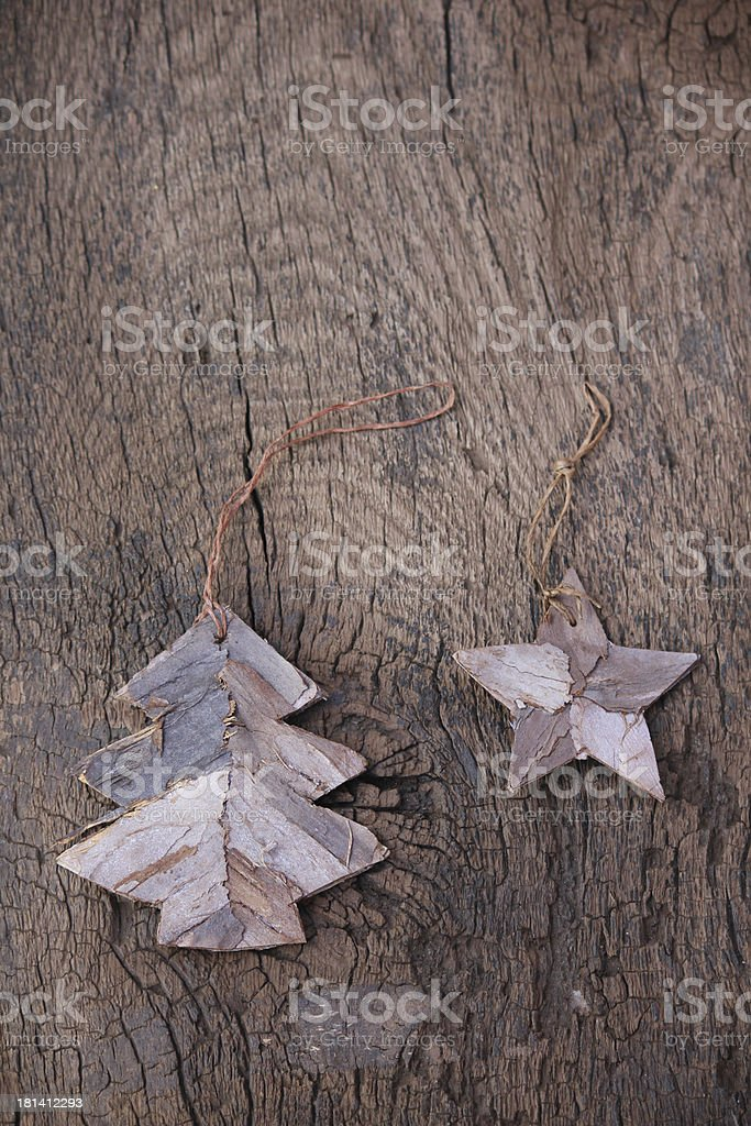 Christmas Decoration on wooden Background royalty-free stock photo