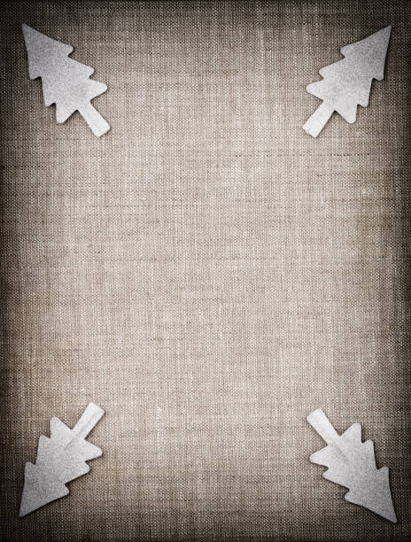 Christmas decoration pattern on canvas material stock photo
