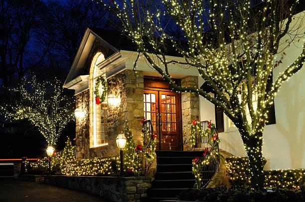 decoração de natal - christmas lights imagens e fotografias de stock