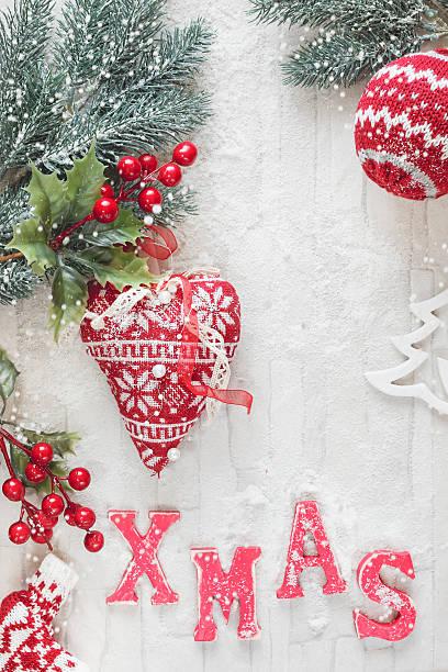 weihnachtsdekoration - do it yourself invitations stock-fotos und bilder