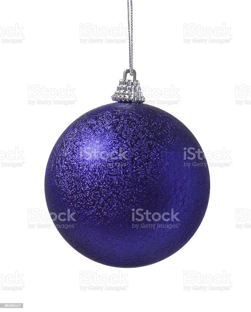 Christmas decoration purple ball royalty-free stock photo