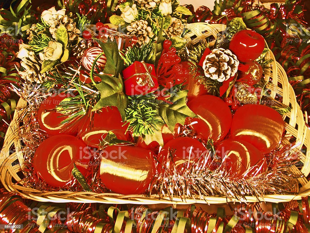 Christmas decoration - red balls royalty-free stock photo