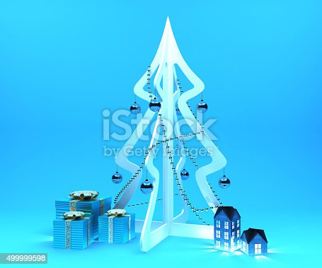 istock Christmas decoration set 499999598