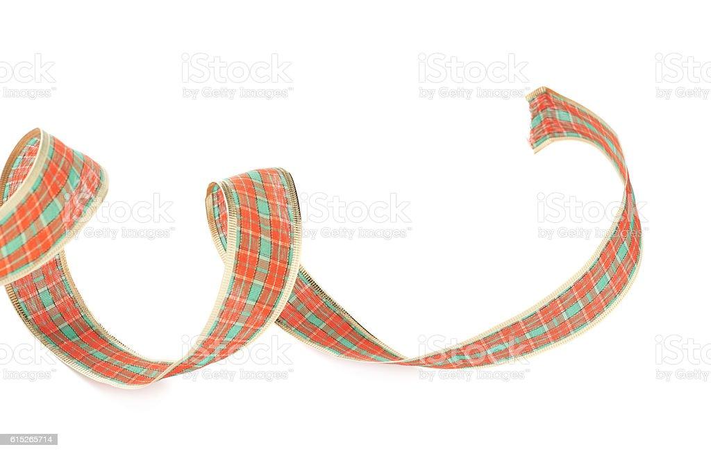 Christmas decoration tape isolated stock photo