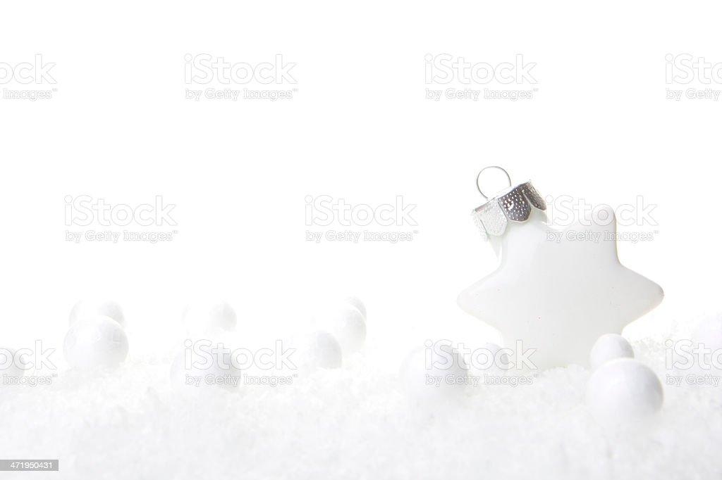 christmas decoration white stock photo