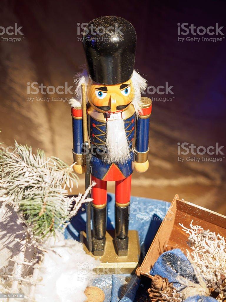 Christmas Decoration with a Nutcracker стоковое фото