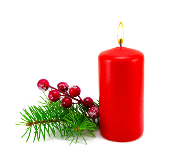 Weihnachtsdekoration mit Kerze. – Foto