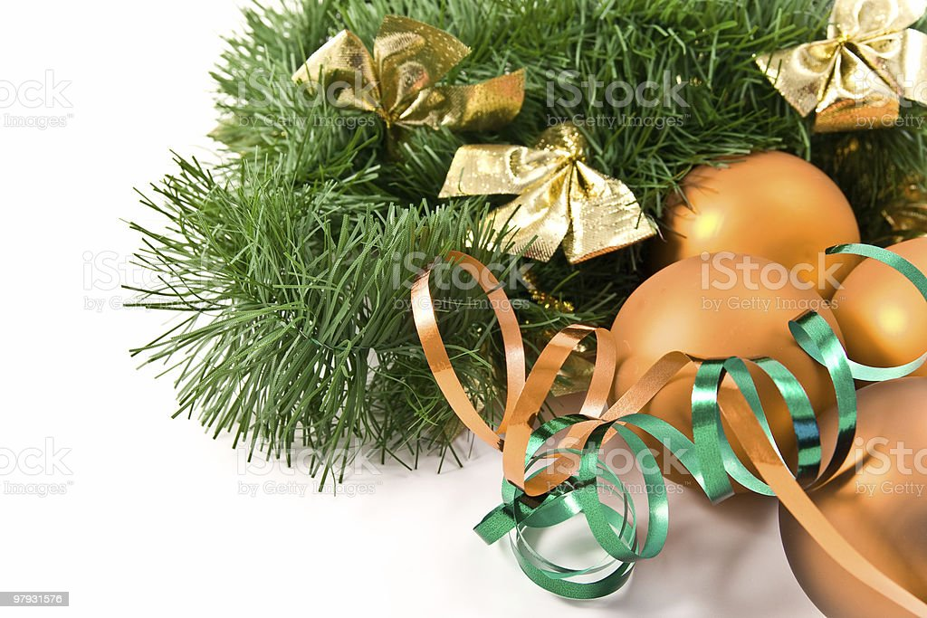 christmas decoration with garland royalty-free stock photo