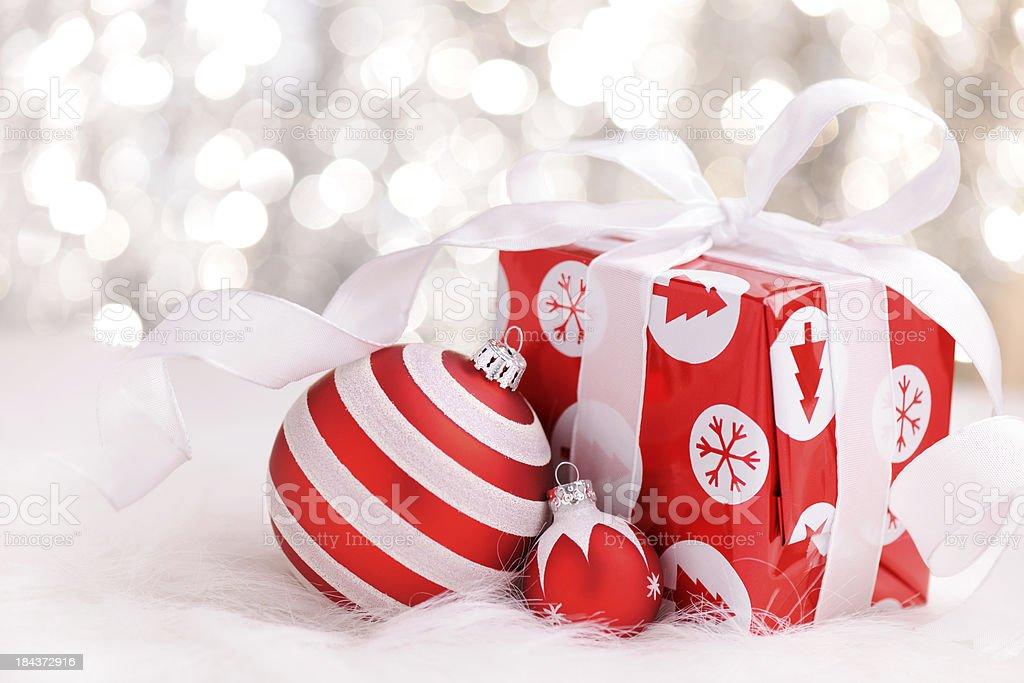 Christmas decoration with illuminated background royalty-free stock photo