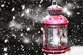 Christmas decoration with lantern