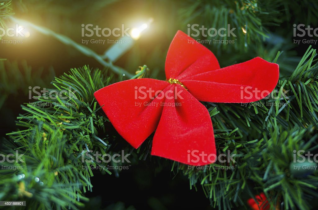 Christmas decoration with lights garland stock photo