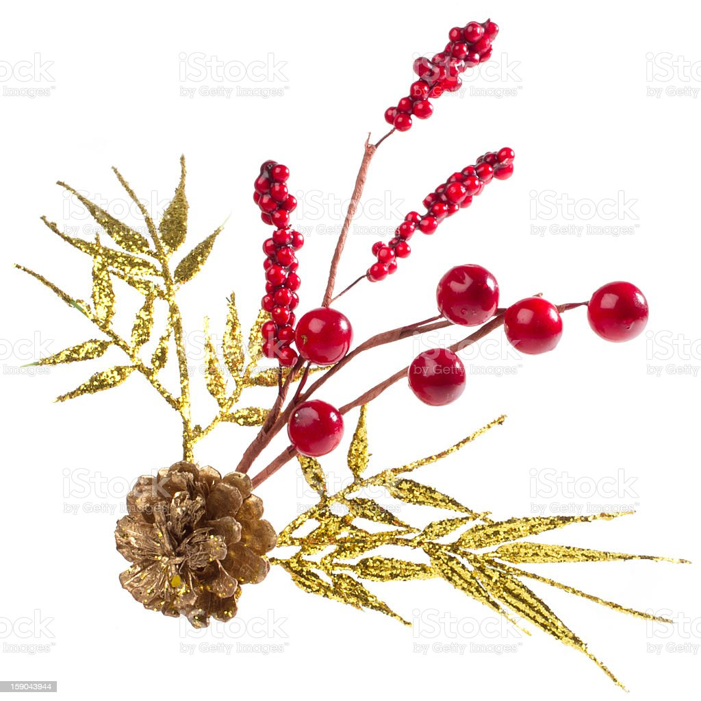 Christmas decoration with red berries royalty-free stock photo