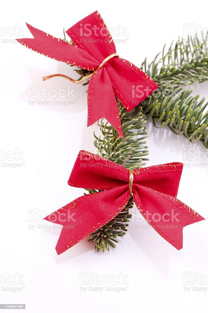Decoración de Navidad con cinta roja foto de stock libre de derechos