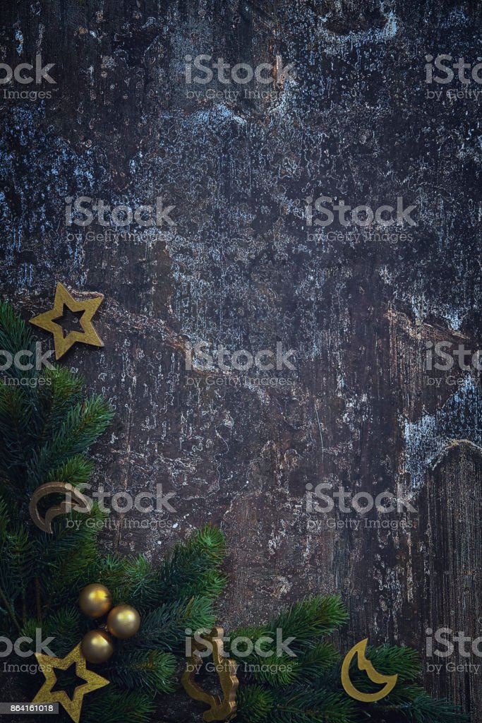 Christmas Decoration with Star Shaped Ornaments royalty-free stock photo