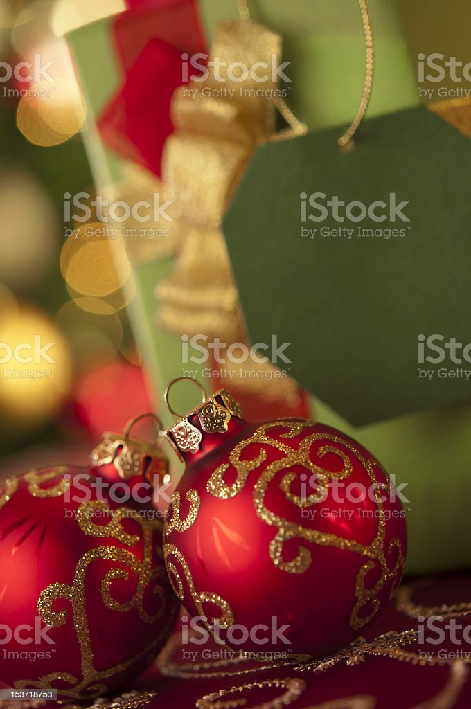 Christmas decorations and gift royalty-free stock photo