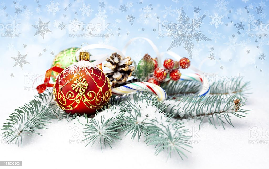 Christmas decorations and sweets royalty-free stock photo