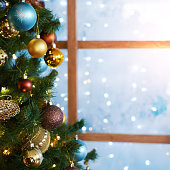 istock Christmas decorations and toys. New Year atmosphere. Window 1285041367