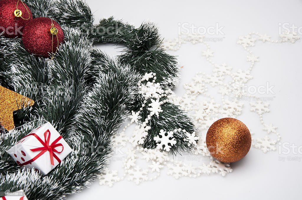 Christmas decorations and winter theme royalty-free stock photo