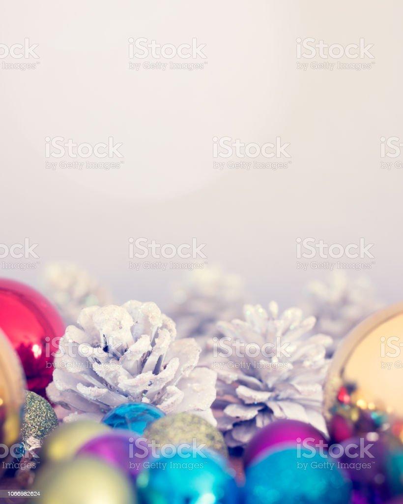 Christmas Decorations Background Image stock photo