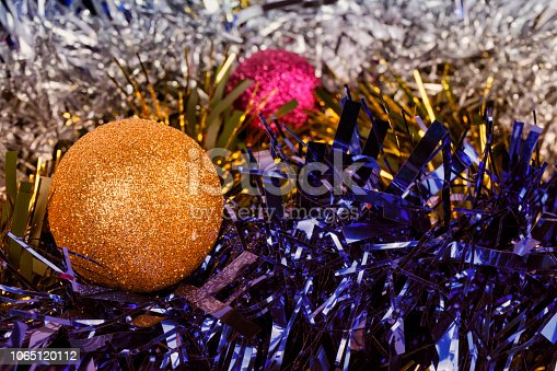 istock Christmas decorations background 1065120112