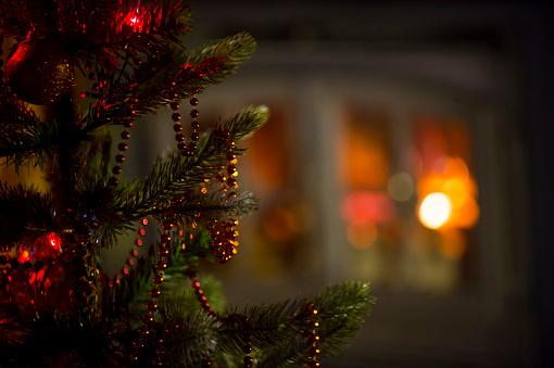 Christmas decorations details