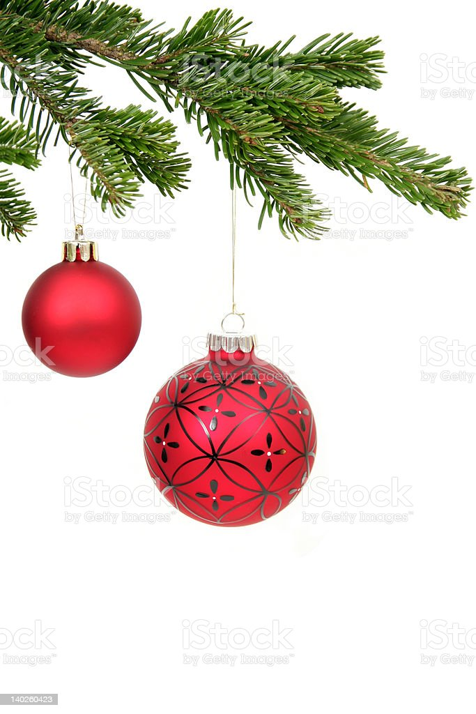 Christmas decorations hanging royalty-free stock photo