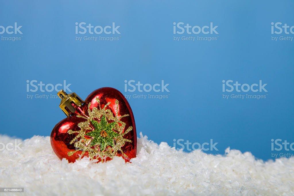 Weihnachtsdekoration im Schnee Lizenzfreies stock-foto