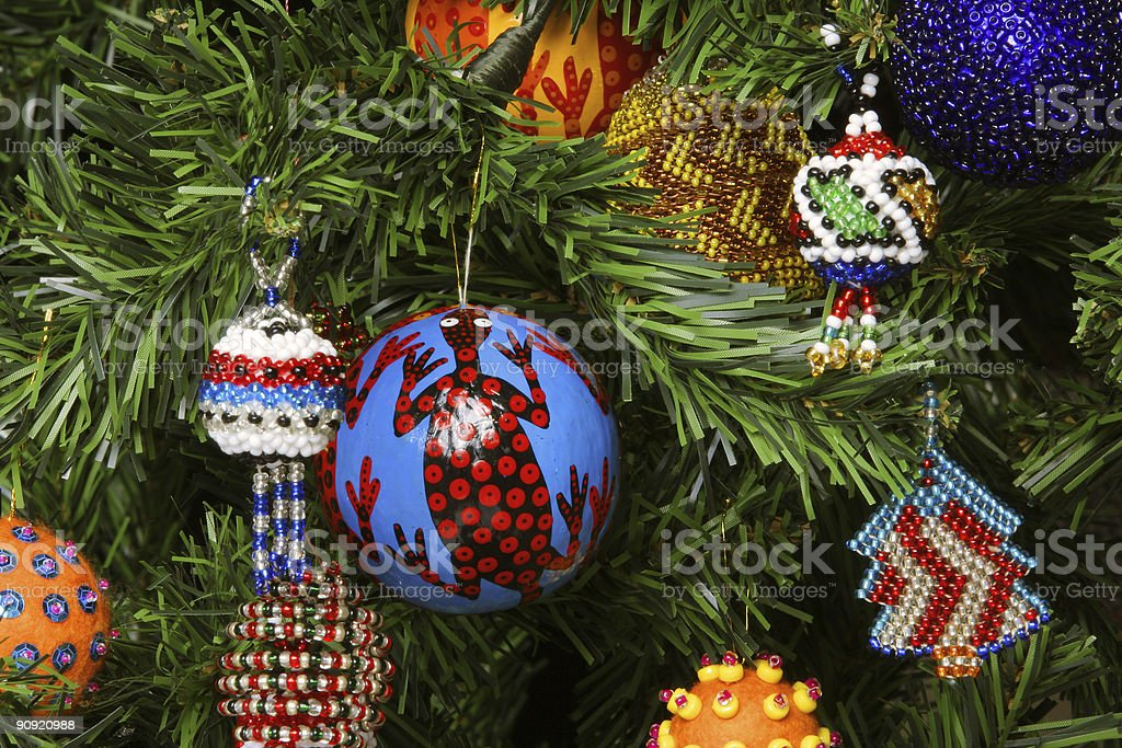 Christmas Decorations of Africa two royalty-free stock photo