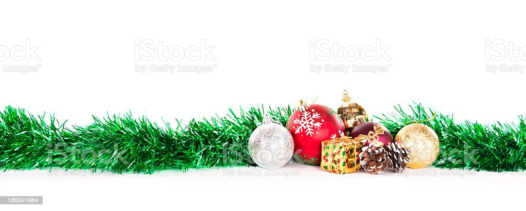 Christmas decorations on a white background royalty-free stock photo