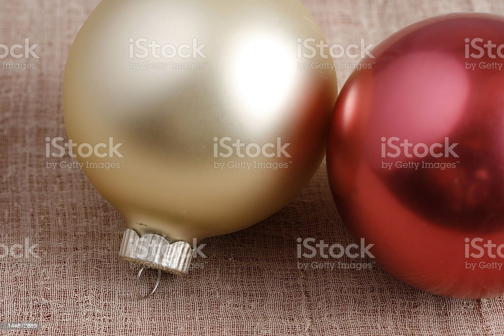 Christmas Decorations on cloth 3 royalty-free stock photo