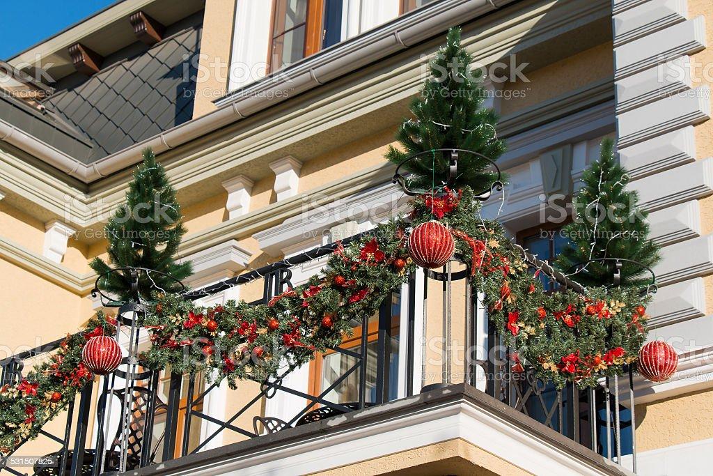 Decoration Balcon De Noel.Photo Libre De Droit De Decorations De Noel Sur Le Balcon