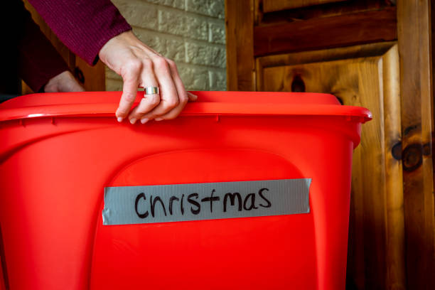 weihnachtsdekorationen. - kreativer speicher stock-fotos und bilder