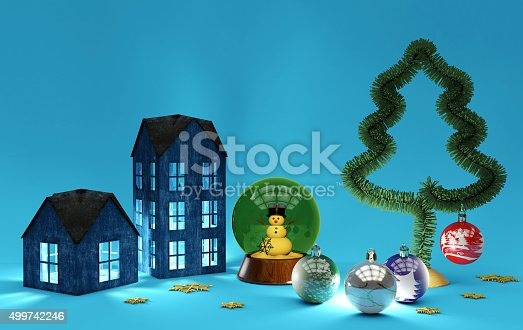 istock Christmas decorations 499742246