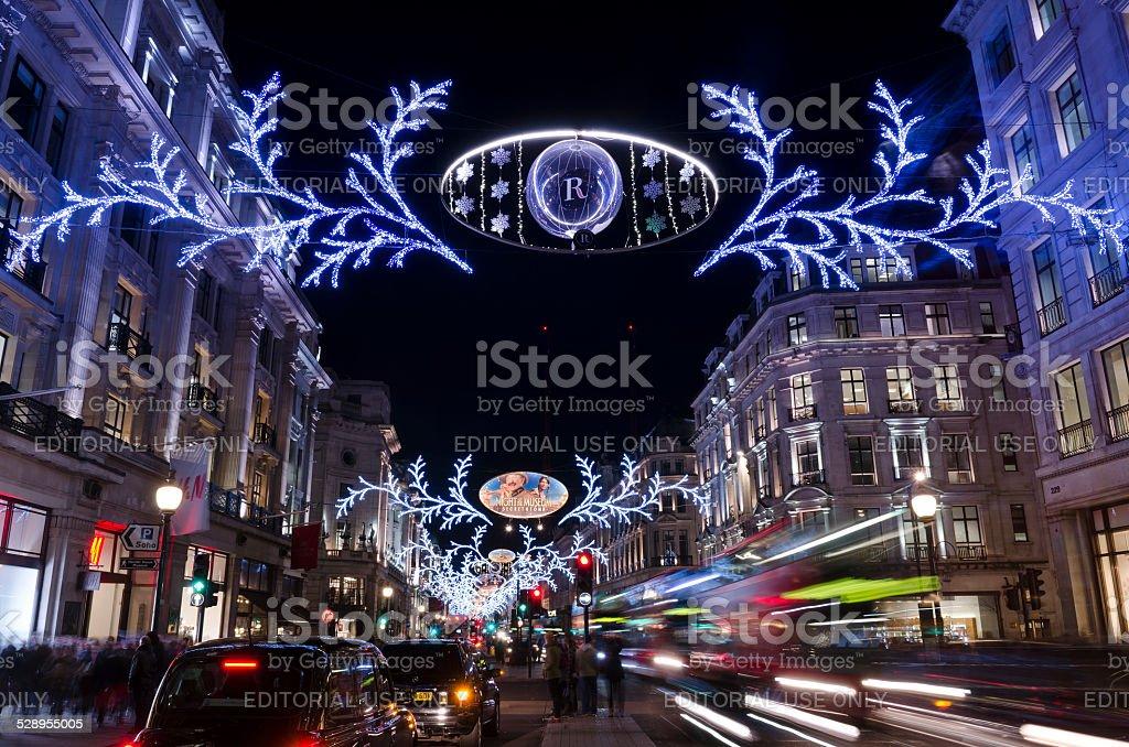Decorazioni Natalizie Londra 2019.Decorazioni Di Natale Regent Street Central London Fotografie