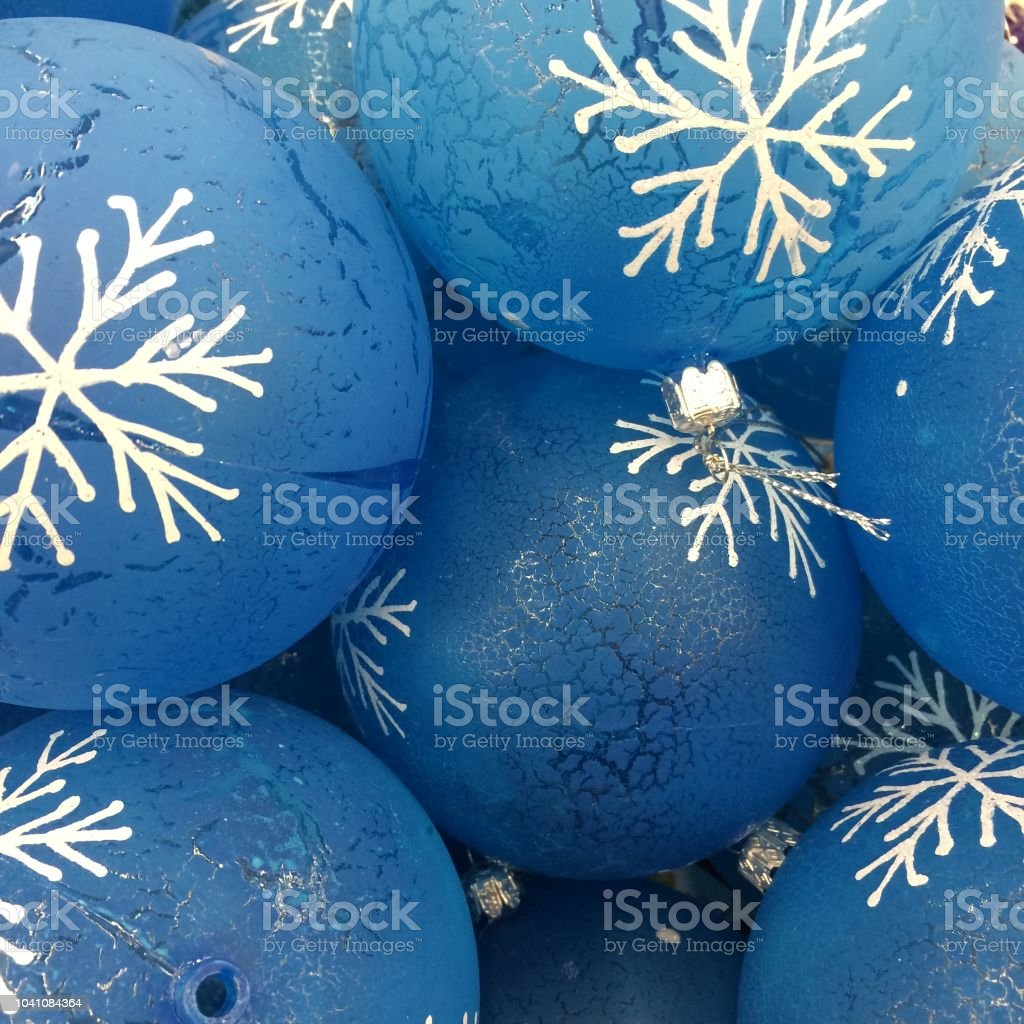 Christmas decorations toys and balls on holiday