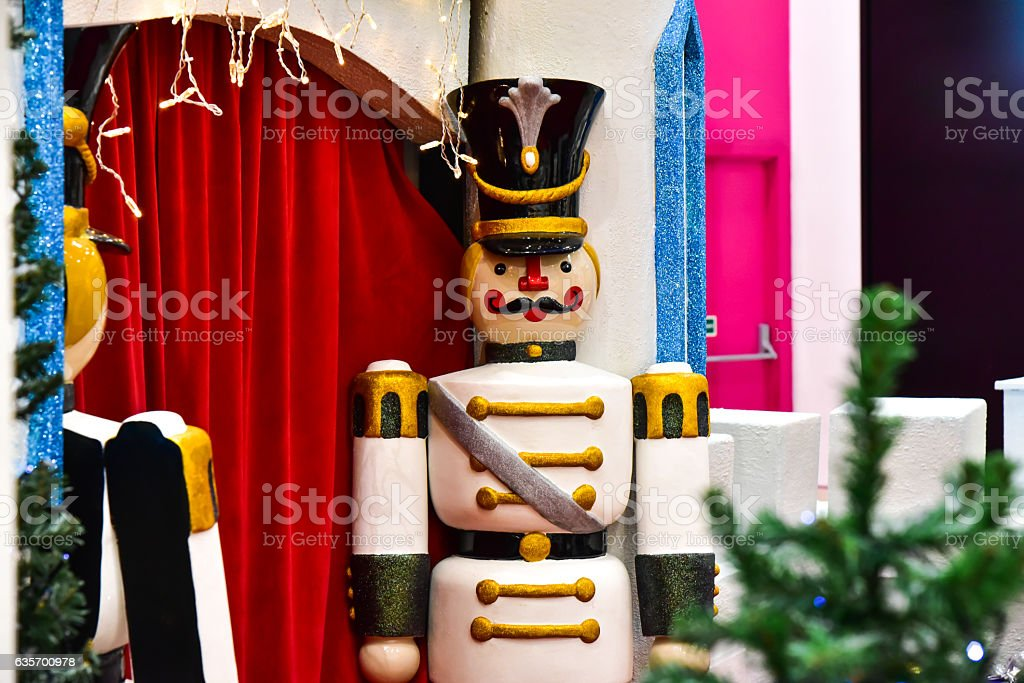 Christmas decorations toys royalty-free stock photo