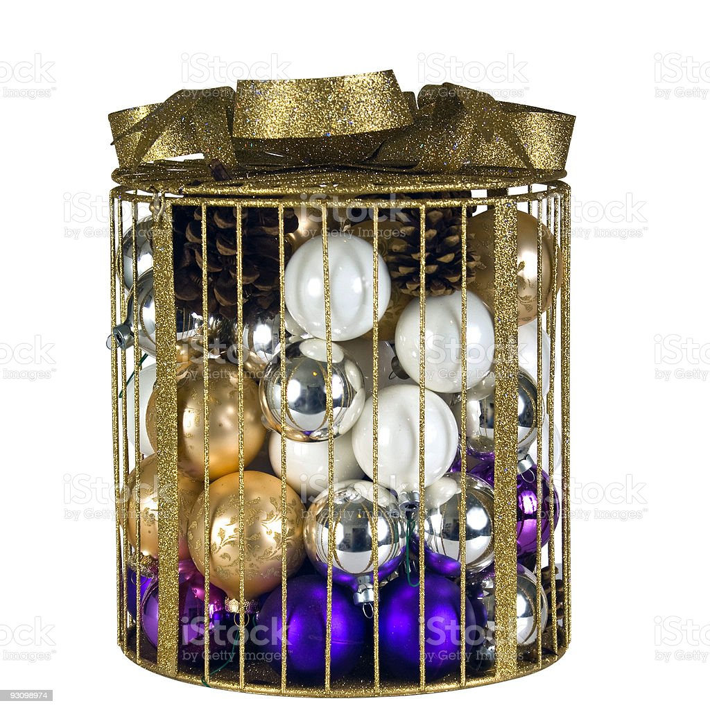 Christmas decorations with a clipping path royalty-free stock photo