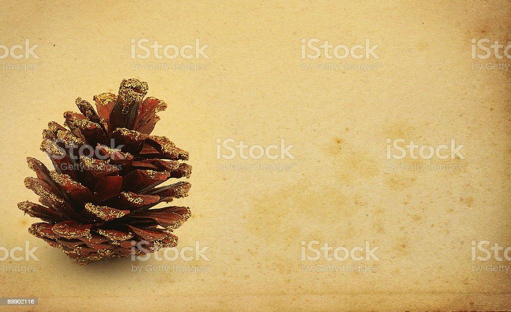 christmas decorative cone royalty-free stock photo