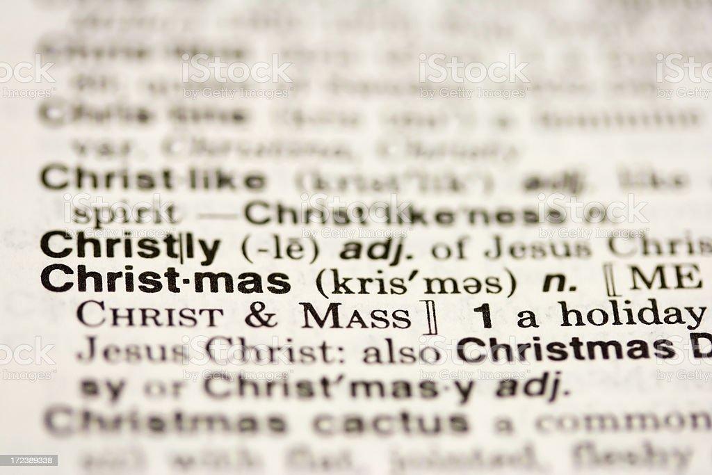 Definition Weihnachten.Weihnachtendefinition Stockfoto Und Mehr Bilder Von Bildschärfe Istock