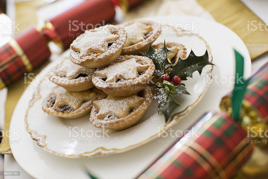 Christmas dessert stock photo