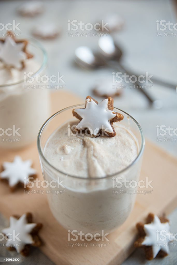Christmas Dessert With Cinnamon Star Cookies Stock Photo Download Image Now