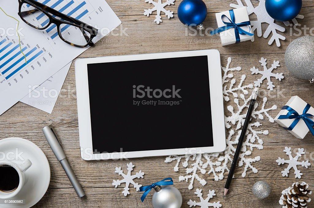 Christmas digital background stock photo