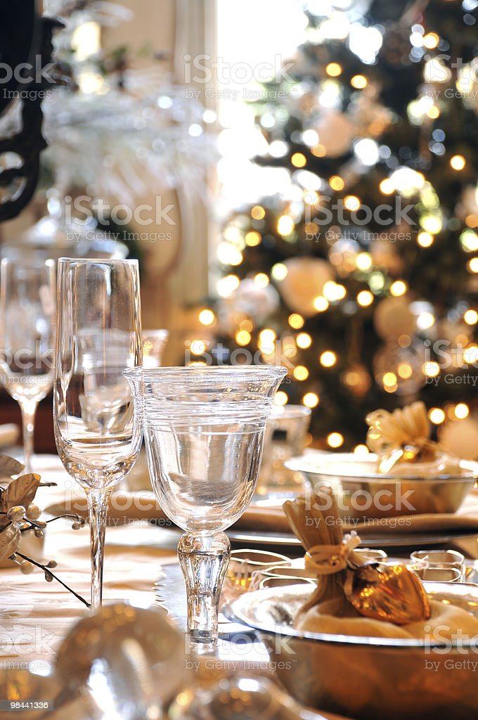 Christmas dining table royalty-free stock photo