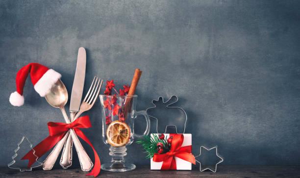 Weihnachten Abendessen Hintergrund – Foto
